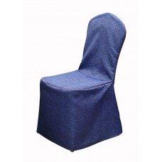 Чехол для стула ткань мебельная mebelan банкетный с кантом синий