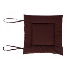 Сидение для стула мягкое 400х400 мм коричневое
