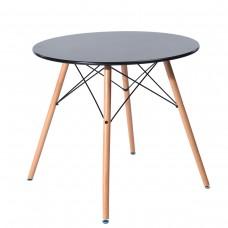 Стол обеденный «Eames D-800 мм, 4 ножки Черный» обеденный нераздвижной