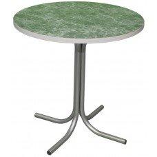 Стол СТ 7 с круглой столешницей из ДСП, облицованная пластиком