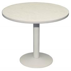 Стол СТ 8 с круглой столешницей из ДСП, облицованная пластиком