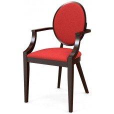 Стул «Ницца» с мягким сиденьем и подлокотниками (деревянный каркас)