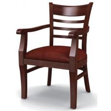 Стул «Оксфорд» с мягким сиденьем и подлокотниками (деревянный каркас)