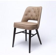 Стул СТ-0042 с пуговицами с мягким сиденьем (деревянный каркас)