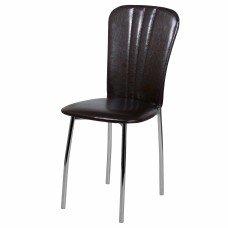 Стул «Лира» с мягким сиденьем (хромированный каркас)