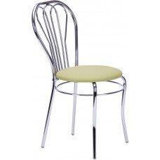 Стул «Вена» с мягким сиденьем (хромированный каркас)