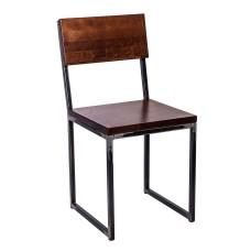 Стул лофт «Кнут» с жестким сиденьем (окрашенный каркас)