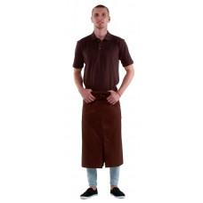 Футболка-поло мужская коричневая с коротким рукавом