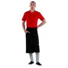 Футболка-поло мужская красная с коротким рукавом