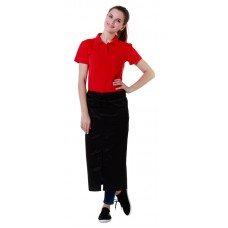 Футболка-поло женская красная с коротким рукавом