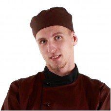 Шапочка повара «Таблетка» коричневая [00400]