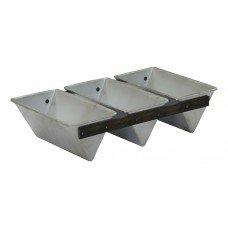 Хлебная форма треугольная 185х110х85 мм 3-секционная