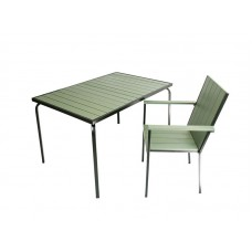 Пивной гарнитур складной (стол 1300х80х75 мм и 4 стула с подлокотниками 58х67х90 мм)