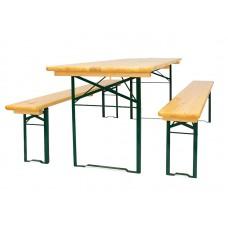 Пивной гарнитур складной (стол 2200х700 мм. и лавка 2 шт.)