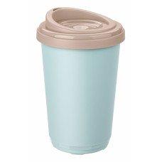 Термостакан 400 мл голубой/розовый полипропилен [433250418]