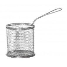 Корзинка для картофеля фри с ручкой 90х90 мм [QL089-03]