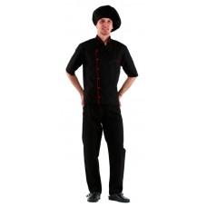 Куртка шеф-повара (диагональ) черная [00003]