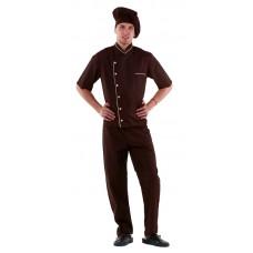 Куртка шеф-повара (диагональ) коричневая [00003]
