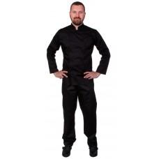 Куртка шеф-повара мужская длинный рукав спинка сетка черная [00013]