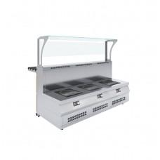 Мармит первых блюд 3-конфорочный индукционный Luxstahl МПИ (С)-1500 (7 вариантов цветов)