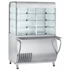 Прилавок-витрина холодильный ABAT «Патша» ПВВ(Н)-70М-С-НШ-01