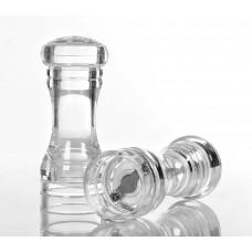 Набор для специй (мельница д/перца 14 см и солонка 13 см) прозрачный акрил [NH9775]