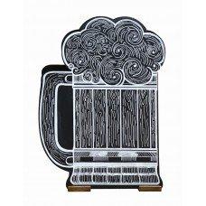 Меловой штендер «Кружка » 1000х750 мм с росписью