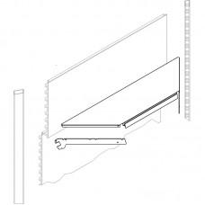 Полка ECO угловая внутренняя 470 мм с кронштейном
