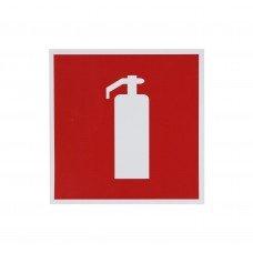 Информационная наклейка «Огнетушитель» 200х200 мм