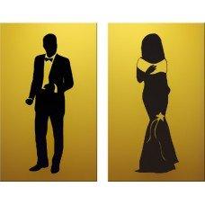 Информационная табличка «Мужчина/Женщина» 150х90 мм [r-40]