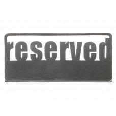 Табличка настольная «Reserved 1» Luxstahl 140х50 мм