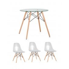 Обеденный комплект (1+3) стол + 3 стула