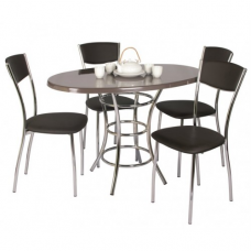Обеденный комплект (1+4) Дуолит стол + 4 стула Амарант