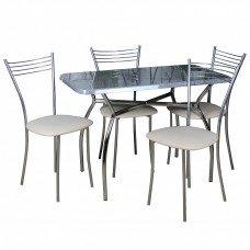 Обеденный комплект (1+4) Дуолит стол + 4 стула Хлоя