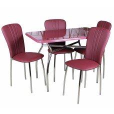 Обеденный комплект (1+4) Дуолит стол + 4 стула Лира