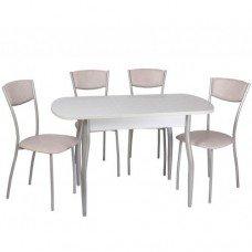 Обеденный комплект (1+4) Пластик стол + 4 стула Амарант (эмаль)