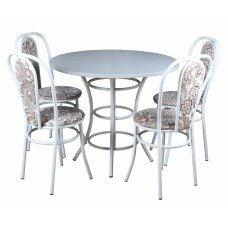 Обеденный комплект (1+4) Пластик стол + 4 стула Венский (эмаль)