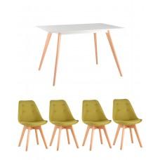 Обеденный комплект (1+4) стол + 4 стула