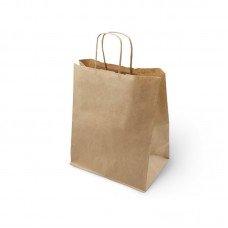 Пакет бумажный с кручеными ручками Крафт 450х350х150 мм (150шт) 70 г/м2 [123938]