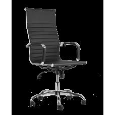 Офисное кресло «City» с мягким сиденьем (хромированный каркас)