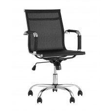 Офисное кресло «Village» с мягким сиденьем (хромированный каркас)