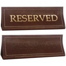 Табличка настольная «Reserved» из ременной кожи