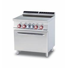 Плита электрическая LOTUS CFC4-78ET четыре зоны нагрева, с жарочным шкафом (серия 70)