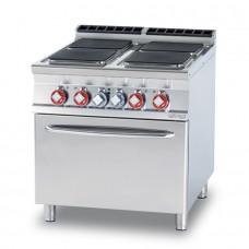 Плита электрическая LOTUS CFQ4-98ET четырехконфорочная с жарочным шкафом (серия 90)