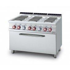 Плита электрическая LOTUS CFQ6-712ET шестиконфорочная, с жарочным шкафом (серия 70)