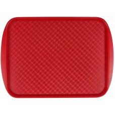 Поднос столовый из полистирола 450х350 мм красный [422106604]