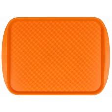 Поднос столовый из полистирола 450х350 мм оранжевый [422106608]