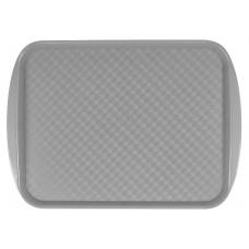 Поднос столовый из полистирола 450х350 мм серый [422106611]