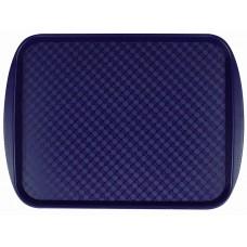 Поднос столовый из полистирола 450х350 мм синий [422106617]