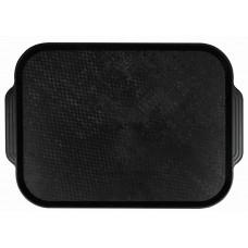 Поднос столовый из полистирола 450х355 мм черный [1730]